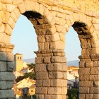 Segovia aqueduct and castle in 3D
